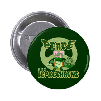 Peace Love and Leprechauns 2 Inch Round Button