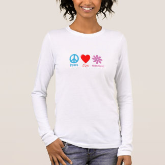 Peace Love and Macaroni long-sleeved T-Shirt