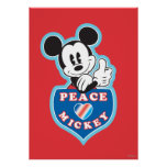 Peace Love and Mickey Poster