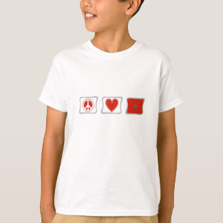 Peace Love and Morocco Squares children's T-Shirt