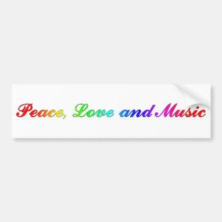 Peace, Love and Music Bumper Sticker