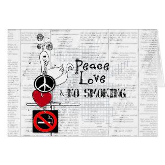 peace - love and NO SMOKING Card