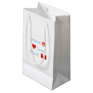 Peace Love and Peru Small Gift Bag