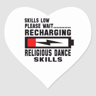 Peace Love And Religious Dance Heart Sticker