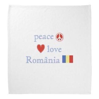 Peace Love and Romania Bandana