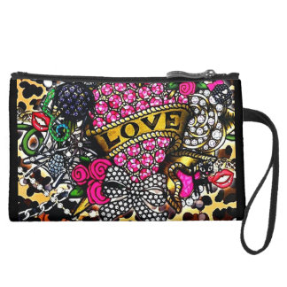 Peace Love and Roses Trend Setter Clutch Wristlets