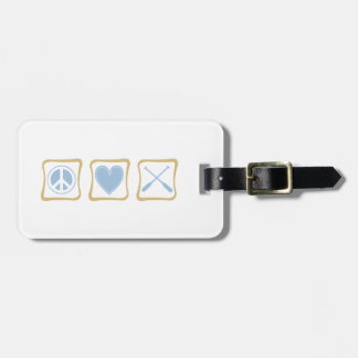 Peace Love and Rowing / Crew Squares Luggage Tag
