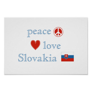 Peace Love and Slovakia Poster