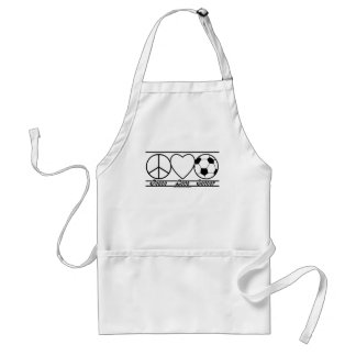 Peace Love and Soccer Standard Apron