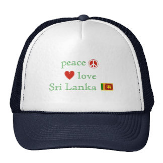 Peace Love and Sri Lanka Trucker Hat