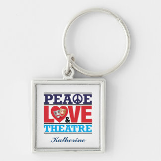 Peace, Love and Theatre Keychain