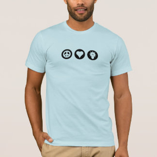 Peace, Love, and Thinking Things Through T-Shirt