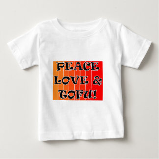 PEACE LOVE AND TOFU BLENDED ORANGE TO RED BABY T-Shirt