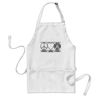 Peace Love and Vinyl Standard Apron