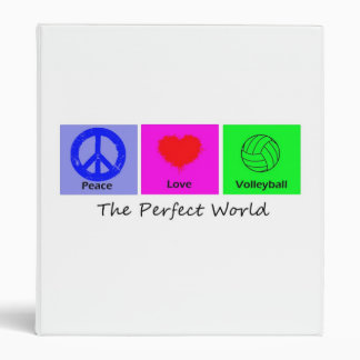 Peace Love and Volleyball Vinyl Binder