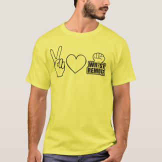 Peace, Love and Wrist Remote, Baby T-Shirt