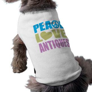 Peace Love Antiques Doggie T Shirt