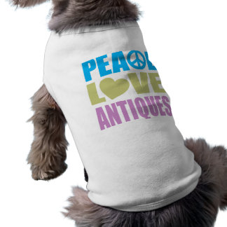 Peace Love Antiques Dog Tee