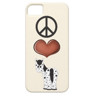 Peace Love Appaloosa Horse iPhone 5 Case