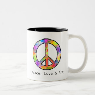 Peace, Love & Art Mug
