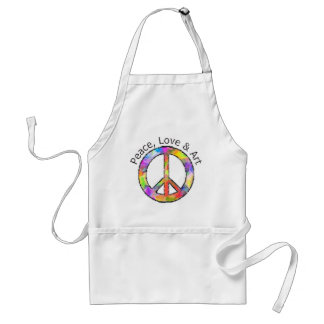 Peace, Love & Art Peace Sign Standard Apron