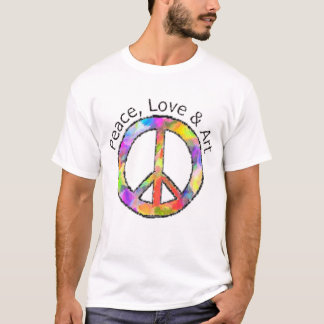 Peace, Love & Art Peace Sign T-Shirt