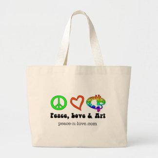 Peace, Love & Art Signs Bag
