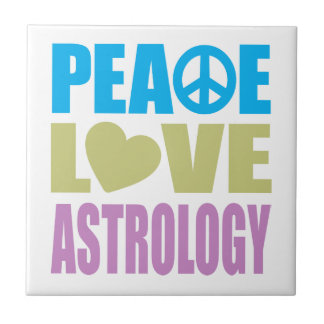 Peace Love Astrology Ceramic Tiles