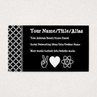 Peace Love Atheism Business Card