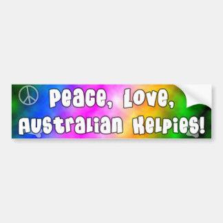Peace Love Australian Kelpies Bumper Sticker