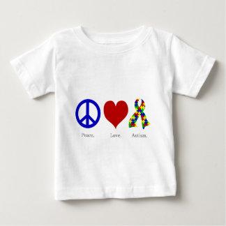 Peace. Love. Autism. (bright colored) Infant Shirt