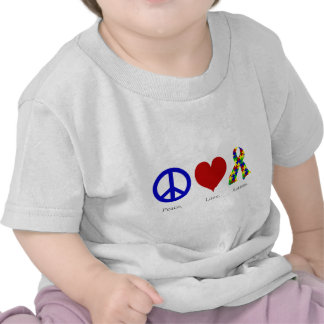 Peace. Love. Autism. (bright colored) Infant T-shirts