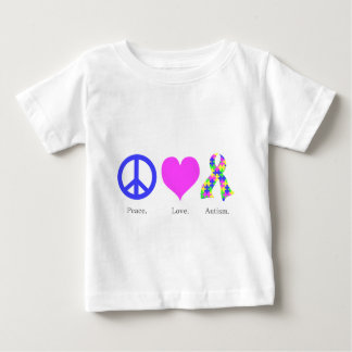 Peace. Love. Autism. (pastel colored) Infant Tee Shirts