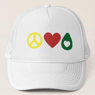 Peace, Love Avocado Hat