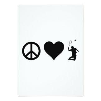 Peace Love Badminton Card
