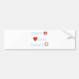 Peace Love Bahai Bumper Sticker