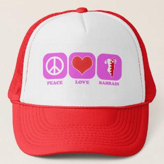 Peace Love Bahrain Trucker Hat