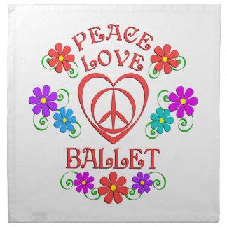Peace Love Ballet Napkin