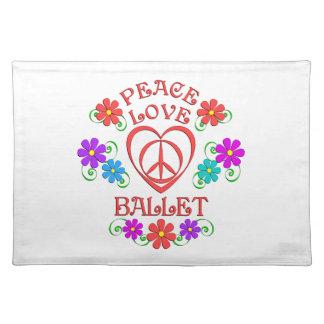 Peace Love Ballet Placemat