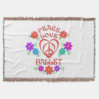 Peace Love Ballet Throw Blanket