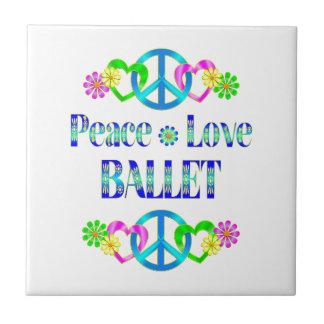 Peace Love Ballet Tile