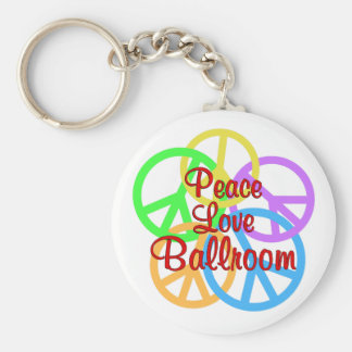 Peace Love Ballroom Basic Round Button Keychain