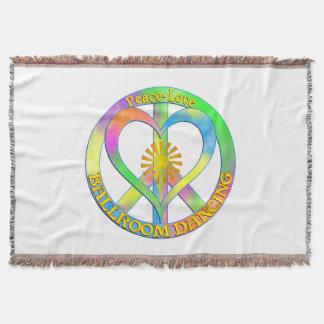 Peace Love Ballroom Dancing Throw Blanket
