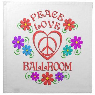 Peace Love Ballroom Napkin
