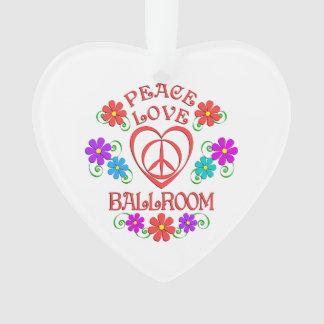 Peace Love Ballroom Ornament