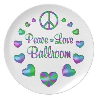 Peace Love Ballroom Plate