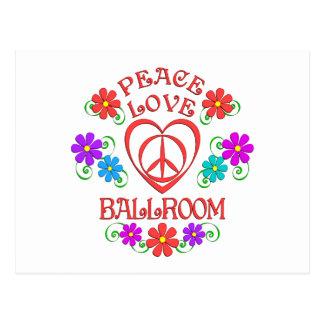 Peace Love Ballroom Postcard