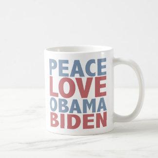 Peace Love Barack Obama Joe Biden Coffee Mug