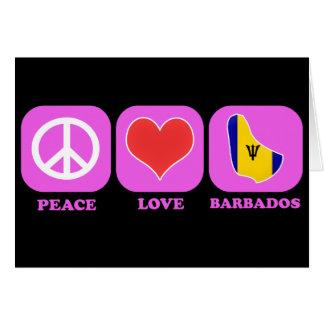 Peace Love Barbados Card