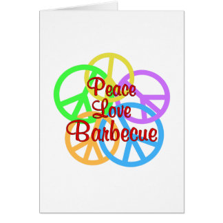 Peace Love Barbecue Card